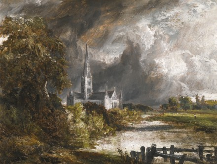 John Constable, East Salisbury Cathedral form the Meadows, via Sotheby's