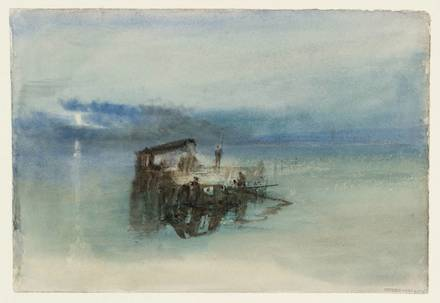 Fishermen on the Lagoon, Moonlight 1840 by Joseph Mallord William Turner 1775-1851
