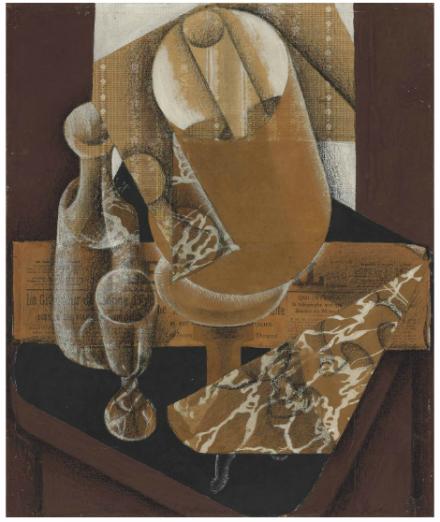 Juan Gris, La Lampe (1914), Via Christie's