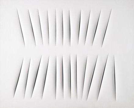 Lucio Fontana, Concetto Spaziale, Attese (1965), via Sotheby's