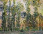 Monet's Les Peupliers à Giverny, via NYT