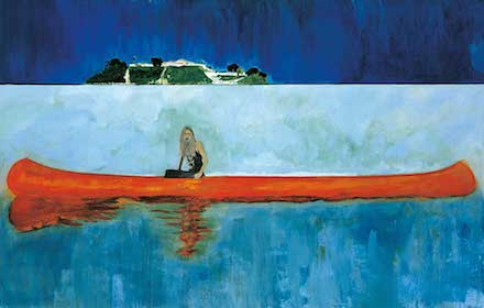 Peter Doig_100 Years Ago (Carrera), 2005-2007_Fondation Beyeler_courtesy Centre Pompidou, Musée national d'art moderne, Centre de création industrielle, Paris