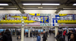 Roy Lichtenstein at Time Square Station, via WSJ
