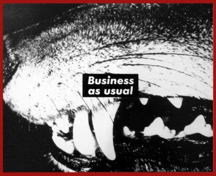 Barbara Kruger Untitled (Business as usual) (1987), via Skarstedt