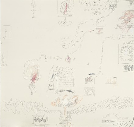 Cy Twombly, Crimes of Passion I (1960), via Sotheby's