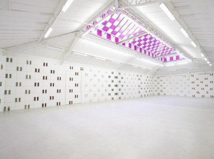 Daniel Buren - Kamel Mennour - Bit by Bit In Situ and Situated Works (2015) - exhibition view