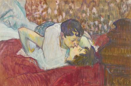 Henri Toulouse-Lautrec, Au Lit Le Baiser (1892), via Sotheby's