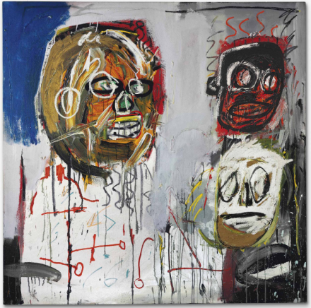 Jean-Michel Basquiat, Three Delegates (1982), via Christie's