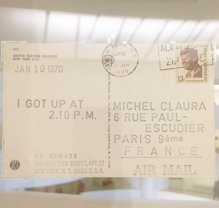 On Kawara, I Got Up (1968-79), via Art Observed