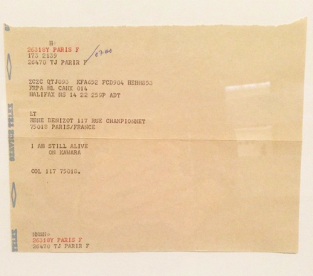 On Kawara, I am still alive (1970-2000), via Art Observed