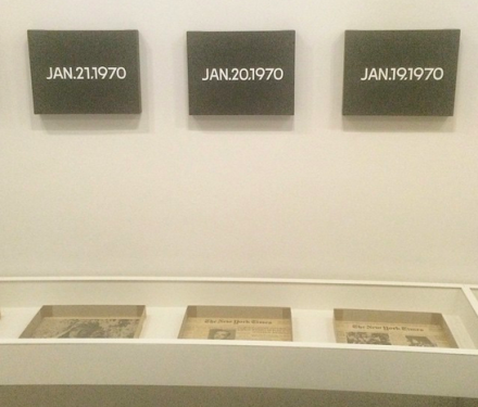 On Kawara, Silence (Installation View), via Art Observed