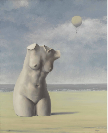 Rene Magritte, Quand l'heure sonnera (1964-65), via Christie's