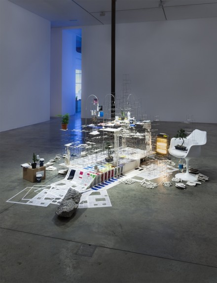 Sarah Sze, Still Life with Desk (2013-2015), via Victoria Miro