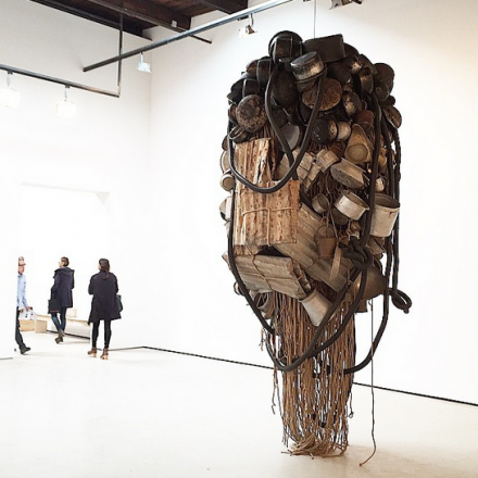 Subodh Gupta, Seven Billion Light Years (Installation View), via Art Observed