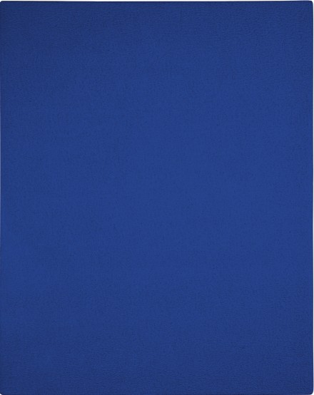 Yves Klein, Blue Monochrome (IKB 92) (1952), via Sotheby's