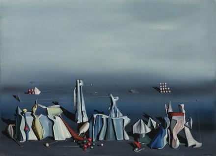 Yves Tanguy, Deux Fois Du Noir (19410, via Sotheby's