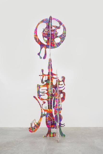 Aaron Curry, Vertical Wood Sculpture (2013), via Almine Rech