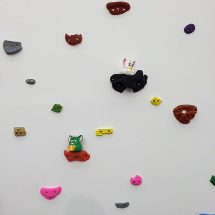 Brad Troemel, Wall Mount for Vintage Furby Collection (2015), via Art Observed