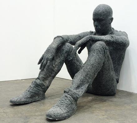 Daniel Arsham at Galerie Perrotin, via Art Basel