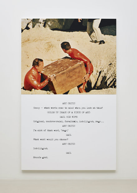 John Baldessari_Pictures & Scripts_Marian Goodman Gallery_Honey - what words come to mind?