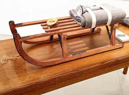 Joseph Beuys, Sled (1969), via Art Observed