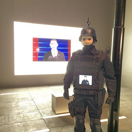 Josh Kline, Freedom (2015), via Art Observed