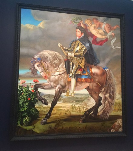 Kehinde Wiley, Equestrian Portrait of King Philip II (Michael Jackson) (2009)