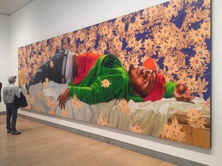 Kehinde Wiley, Femme Piquée pas un Serpent (2008)