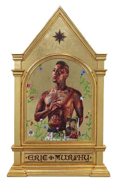 Kehinde Wiley, Saint Gregory of Palamas (2014), via Sean Kelly