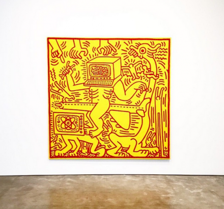 Keith Haring Untitled (1984), via Art Observed