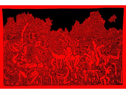 Keith Haring Untitled (July 7, 1985) (1984), Skarstedt