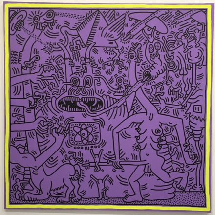 Keith Haring Untitled (May 29, 1984) (1984), via Art Observed