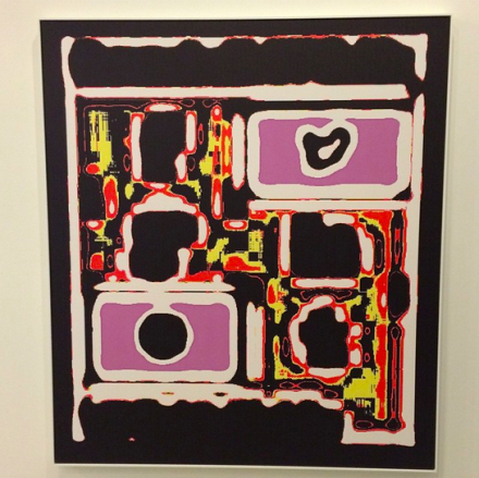Mark Flood at Peres Projects,  via Art Observed