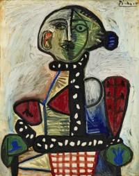 Pablo Picasso, Femme au Chignon Dans un Fauteuil, via NYT
