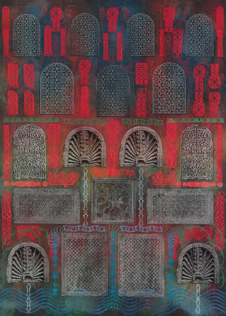 Philip Taaffe - Luhring Augustine Bushwick - Imaginary Fountain (2014)