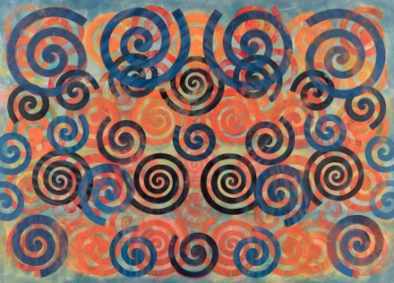 Philip Taaffe - Luhring Augustine Bushwick - Spiral Painting II (2015)