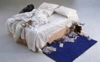 Tracey Emin's Bed Tate Modern FOR USE WITH REVIEW ONLY