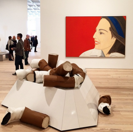 Alex Katz and Claes Oldenburg, via Art Observed