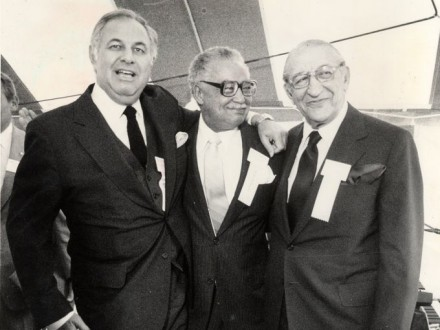 Alfred Taubman, Mayor Coleman Young and Max Fisher, via Detroit Free Press