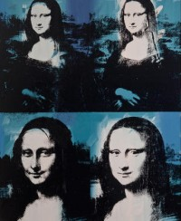 Andy Warhol, Mona Lisa Four Times, via Chicago Tribune