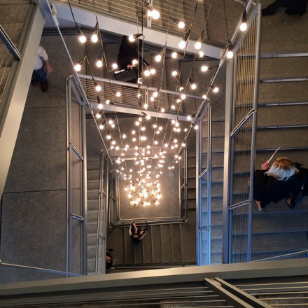 Felix Gonzalez-Torres Installed in the Whitney Stairwell, via Art Observed