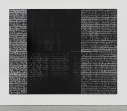 Glenn Ligon, Come Out #9 (2015)