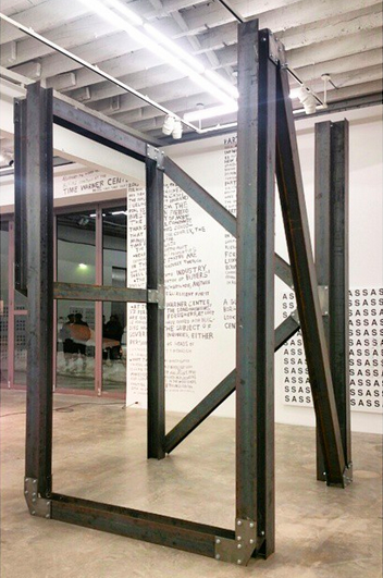 Karl Holmqvist, Here's Good Looking @U Kid (Installation View), via Art Observed