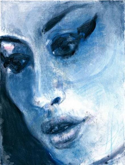 Marlene Dumas, Amy-Blue (2011) © Marlene Dumas
