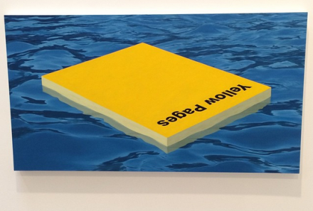 Matthew Cerletty, Yellow Pages (2015), via Art Observed