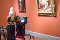 Young museum-goers at Worcester Art Museum, via NYT