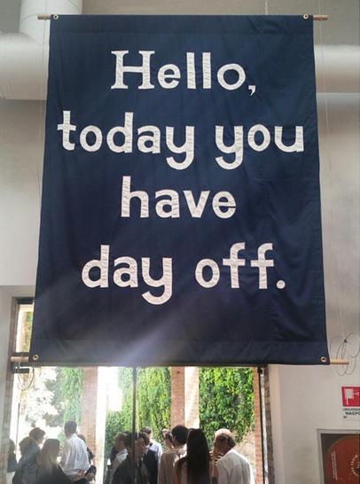 A Banner by Jeremy Deller, via Art Observed