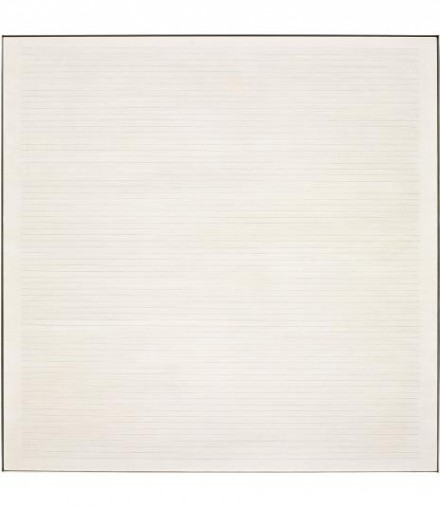 Agnes Martin, Untitled #7 (1984), via Phillips