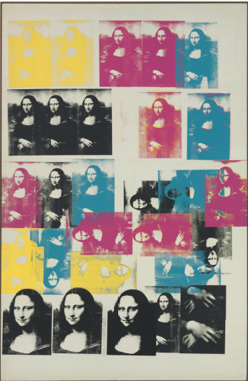 Andy Warhol, Colored Mona Lisa (1963), via Christie's