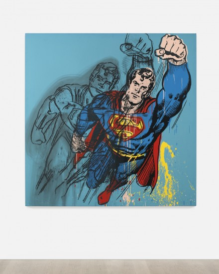 Andy Warhol, Superman (1981), via Art Observed